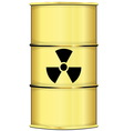 Barrel with radiation sign vector image vector image