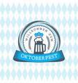 beer festival oktoberfest celebrations vintage vector image vector image