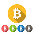 bitcoin round icons flat design vector image vector image