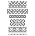 borders embroidery cross vector image vector image