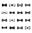 bowtie ribbon man tuxedo icons set simple style vector image vector image