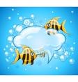 Bubbles cloud in aquarium vector image vector image