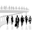business people in office vector image vector image