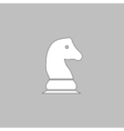 Chess knight computer symbol vector image