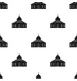 church icon in black style isolated on white vector image vector image