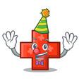clown cross mascot cartoon style vector image vector image