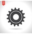 cogwheel icon Epsflat black0 vector image vector image