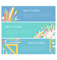 collection of colorful horizontal web banner vector image vector image