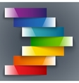 Colorful rainbow shiny paper stripes banners arrow