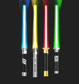 colorful with light sabers vector image