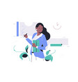 confident happy african american businesswoman in vector image