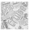 cruise vacations Word Cloud Concept vector image vector image