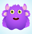 cute furry monster vector image