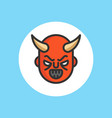 devil flat icon sign symbol vector image vector image
