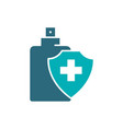 disinfectant spray colored icon cleaning supply vector image
