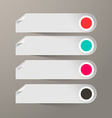Empty Paper Labels Set vector image vector image