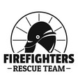 firefighters rescue team logo simple style vector image