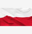 flag republic poland vector image