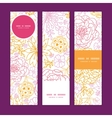flowers outlined vertical banners set