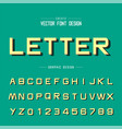 font and alphabet style design typeface letter vector image
