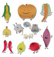 food emoji stickers of vector image