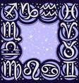 frame for astrology vector image vector image