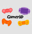 gamepad console controllers icon set vector image