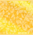 geometrical background with triangles yellow low vector image vector image