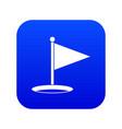 golf flag icon digital blue vector image