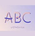 grade 3 font alphabet vector image