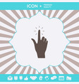 hand click icon graphic elements for your design vector image