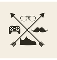 hipster style set icons vector image