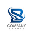 initial letter b concept bolt logo on white vector image
