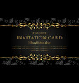 invitation card - exclusive black and gold design vector image vector image