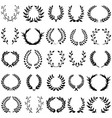 leaf wreath 15 black vector image