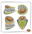 logo american football ball vector image vector image