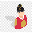 man in korean costume isometric icon vector image vector image