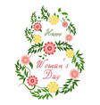 march 8 happy women day spring holiday vector image vector image