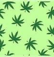 marijuana seamless pattern for fabrics wrapping vector image