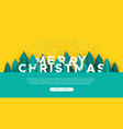 merry christmas web template paper cut pine tree vector image