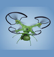 military drone with bomb realistic composition vector image