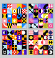 neo geo pattern seamless background vector image