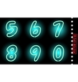 neon numbers vector image