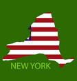 new york state of america with map flag print on vector image vector image