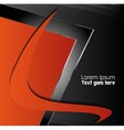 Orange black background vector image vector image