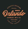 orlando athletic dept t shirt design vector image