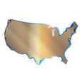 outline map of the usa vector image vector image