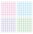 Pastel houndstooth seamless background set vector image vector image