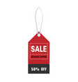 price tag sale special offer 50 off image vector image vector image