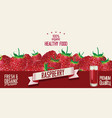 raspberry retro vintage background vector image